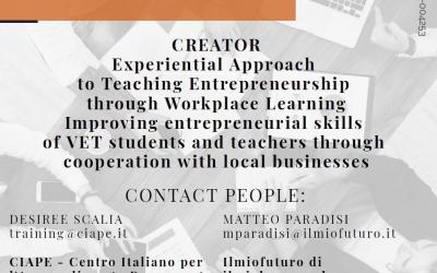 Visita studio per docenti: apprendimento esperienziale su Insegnare Imprenditorialità – CREATOR project