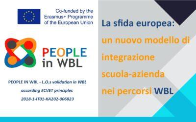 """""""La sfida Europea: un nuovo modello di integrazione scuola-azienda nei percorsi WBL"""" – Evento"""